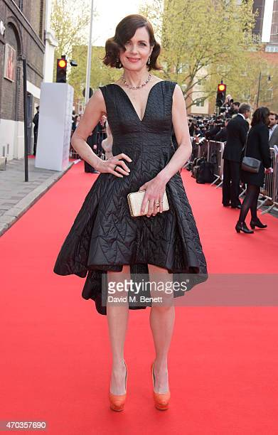 Elizabeth McGovern arrives at The Old Vic for A Gala Celebration in Honour of Kevin Spacey as the artistic director's tenure comes to an end on April...