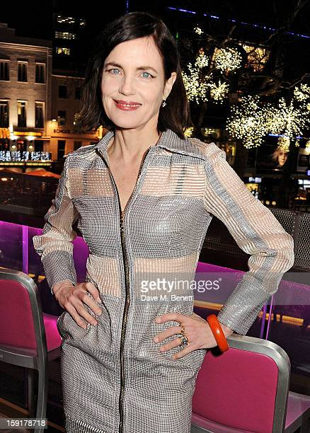 Elizabeth McGovern attends a Gala Screening of 'Cheerful Weather For The Wedding' at the Empire Leicester Square on January 9 2013 in London England