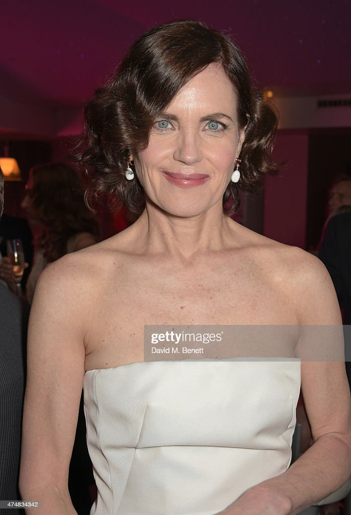 Elizabeth McGovern attends an after party celebrating the VIP Gala Preview of 'The Elephant Man' at The Haymarket Hotel on May 26 2015 in London...