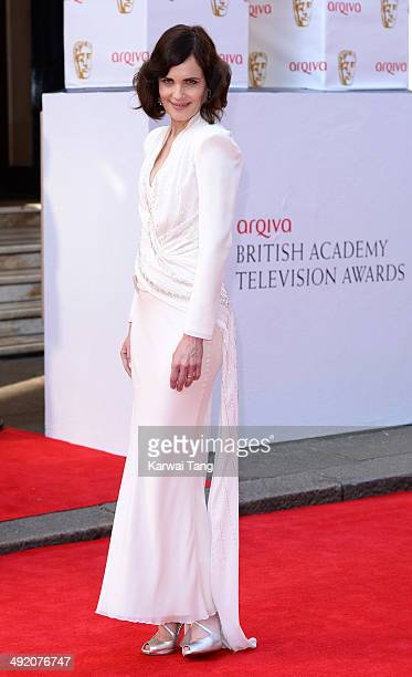 Elizabeth McGovern attends the Arqiva British Academy Television Awards held at the Theatre Royal on May 18 2014 in London England