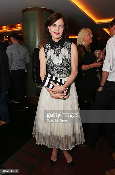 Elizabeth McGovern attends the Downton Abbey wrap party at The Ivy on August 15 2015 in London England