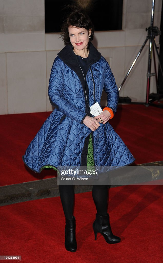 <a gi-track='captionPersonalityLinkClicked' href=/galleries/search?phrase=Elizabeth+McGovern&family=editorial&specificpeople=734460 ng-click='$event.stopPropagation()'>Elizabeth McGovern</a> attends the press night for 'The Book of Mormon' at Prince Of Wales Theatre on March 21, 2013 in London, England.
