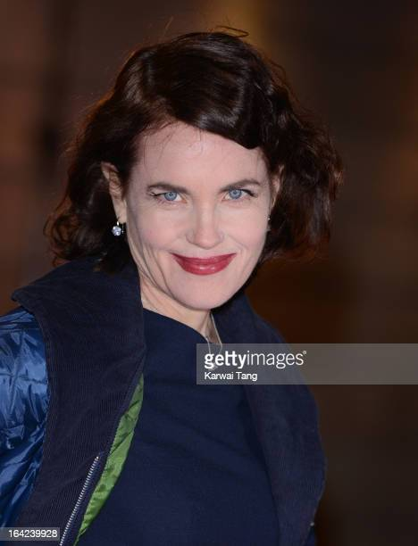 Elizabeth McGovern attends the press night for 'The Book of Mormon' at Prince Of Wales Theatre on March 21 2013 in London England