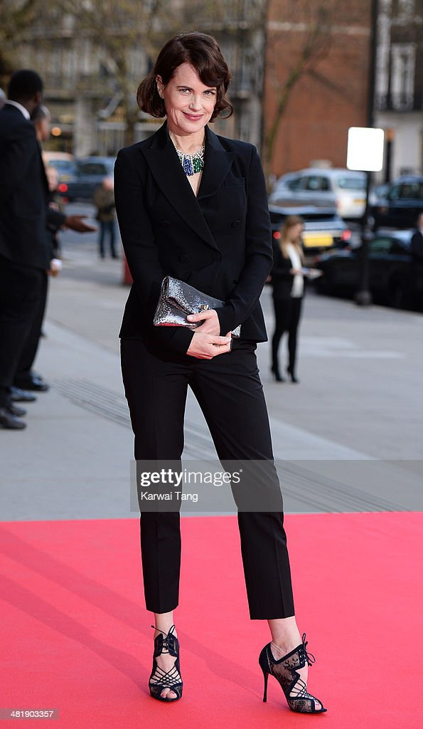 <a gi-track='captionPersonalityLinkClicked' href=/galleries/search?phrase=Elizabeth+McGovern&family=editorial&specificpeople=734460 ng-click='$event.stopPropagation()'>Elizabeth McGovern</a> attends the preview of The Glamour of Italian Fashion exhibition at the Victoria & Albert Museum on April 1, 2014 in London, England.