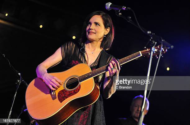 Elizabeth McGovern of Sadie And The Hotheads performs on stage at the Union Chapel on February 17 2013 in London England