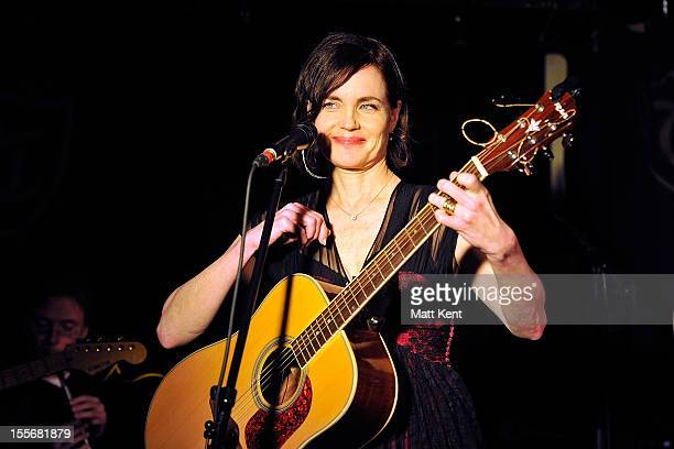 Elizabeth McGovern of Sadie and the Hotheads performs on the first night of their November residency at The Troubadour on November 6 2012 in London...