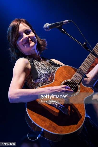 Elizabeth McGovern performs with her band Sadie And The Hotheads at Hammersmith Apollo on March 16 2014 in London England