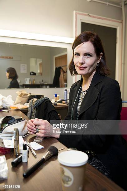 Elizabeth McGovern photographed in her dressing room backstage after performing with her band Sadie And The Hotheads at Hammersmith Apollo on March...