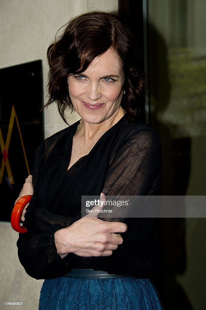 Elizabeth Mcgovern sighted arriving at The Mayfair Hotel on August 13, 2013 in London, England.