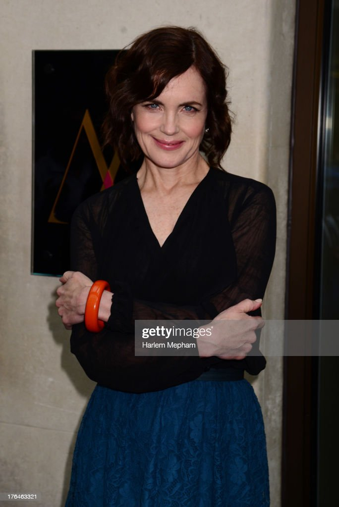 <a gi-track='captionPersonalityLinkClicked' href=/galleries/search?phrase=Elizabeth+McGovern&family=editorial&specificpeople=734460 ng-click='$event.stopPropagation()'>Elizabeth McGovern</a> sighted outside The Mayfair Hotel on August 13, 2013 in London, England.