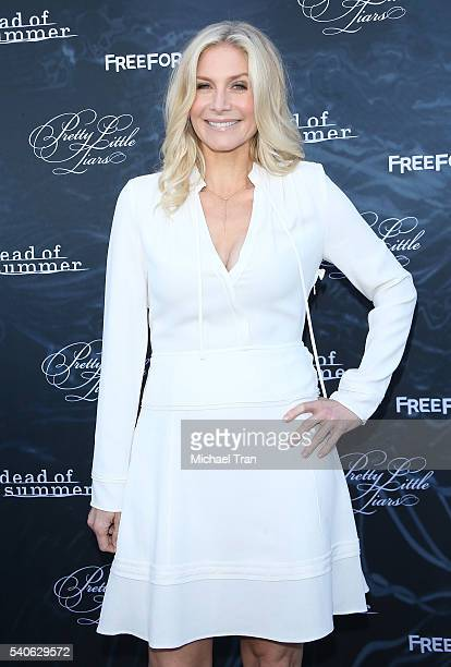 Elizabeth Mitchell arrives at the Los Angeles premiere of 'Pretty Little Liars' season 7 and 'Dead of Summer' held at Hollywood Forever on June 15...