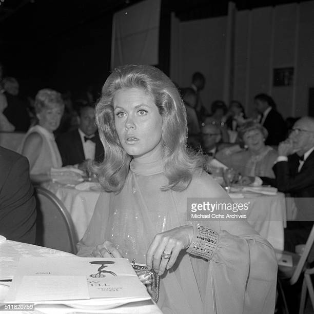 Elizabeth Montgomery attends the Day Time Emmy Awards dinner in Los AngelesCA