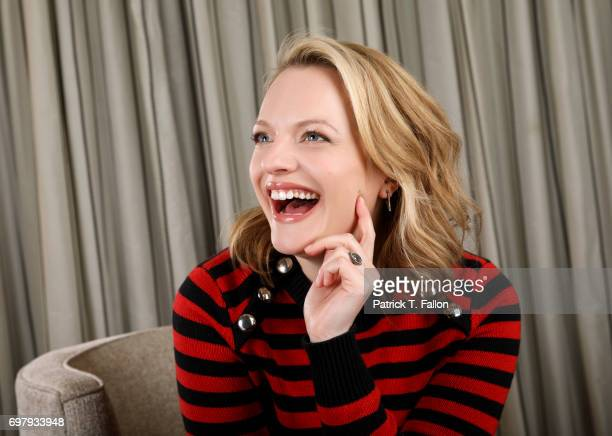 Elizabeth Moss is photographed for Los Angeles Times on April 3 2017 in Los Angeles California
