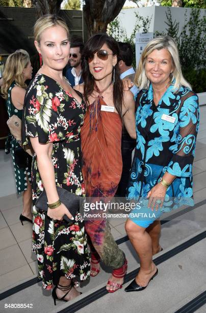 Elizabeth Murphy Venessa DeChellis and Chantal Rickards attend the BBC America BAFTA Los Angeles TV Tea Party 2017 at The Beverly Hilton Hotel on...