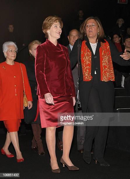 Elizabeth Nabel First Lady Laura Bush and Fern Mallis
