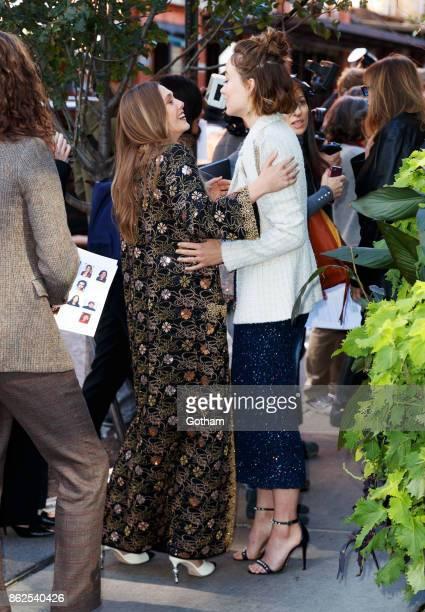 Elizabeth Olsen and Olivia Wilde on October 17 2017 in New York City