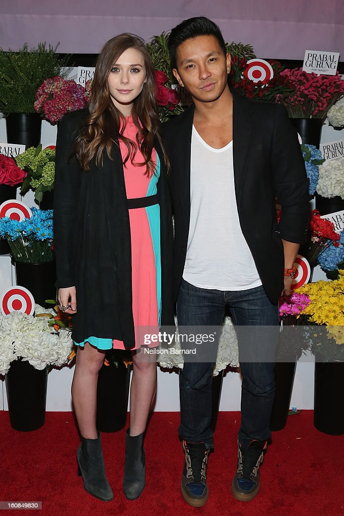 Elizabeth Olsen and Prabal Gurung attend Prabal Gurung for Target launch event on February 6, 2013 in New York City.