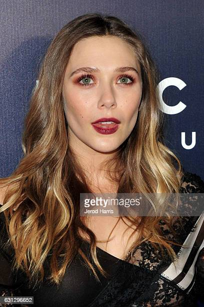 Elizabeth Olsen arrives at NBCUniversal's 74th Annual Golden Globes After Party at The Beverly Hilton Hotel on January 8 2017 in Beverly Hills...