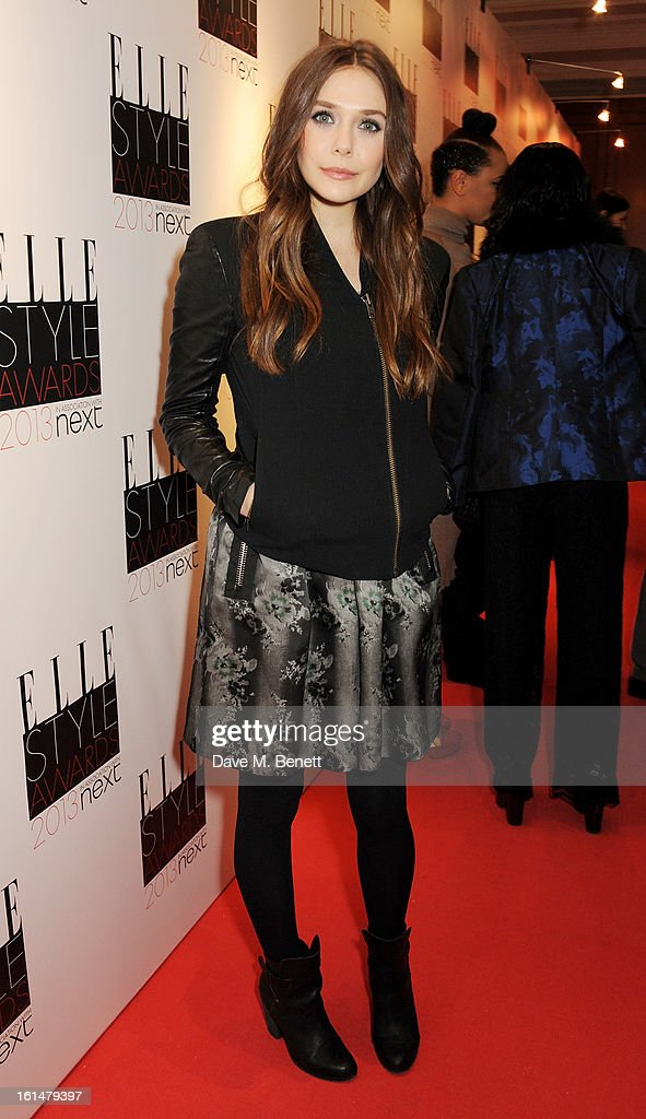 Elizabeth Olsen arrives at the Elle Style Awards at The Savoy Hotel on February 11, 2013 in London, England.