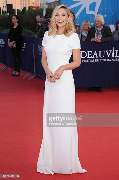 Elizabeth Olsen arrives at the 'Ruth And Alex' Premiere during the 41st Deauville American Film Festival on September 9 2015 in Deauville France