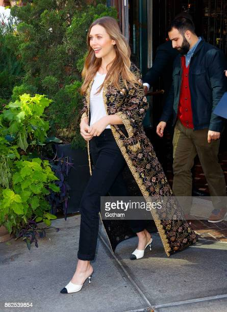 Elizabeth Olsen at Chanel's 'Through the Lens' luncheon on October 17 2017 in New York City