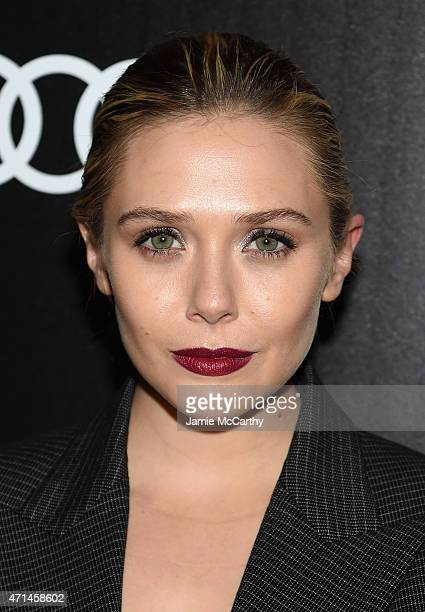 Elizabeth Olsen attend The Cinema Society Audi screening of Marvel's 'Avengers Age of Ultron' at SVA Theater on April 28 2015 in New York City