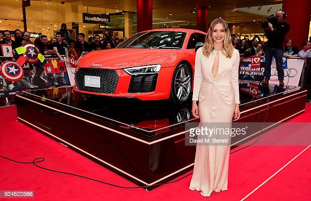 Elizabeth Olsen attends European premiere of 'Captain America Civil War' supported by Audi at Westfield on April 26 2016 in London England