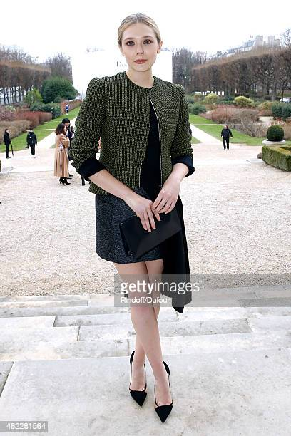 Elizabeth Olsen attends the Christian Dior show as part of Paris Fashion Week Haute Couture Spring/Summer 2015 on January 26 2015 in Paris France