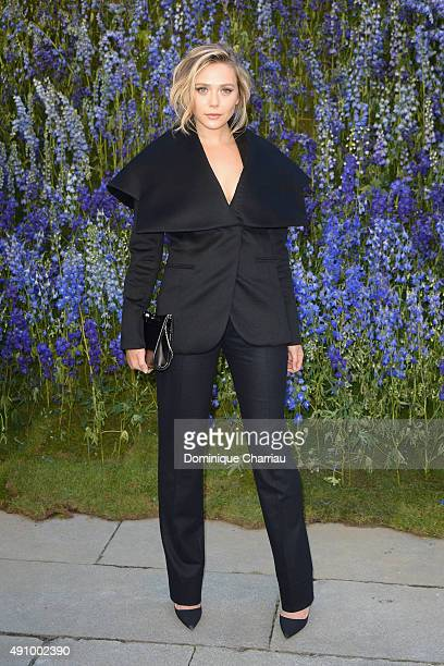 Elizabeth Olsen attends the Christian Dior show as part of the Paris Fashion Week Womenswear Spring/Summer 2016 on October 2 2015 in Paris France