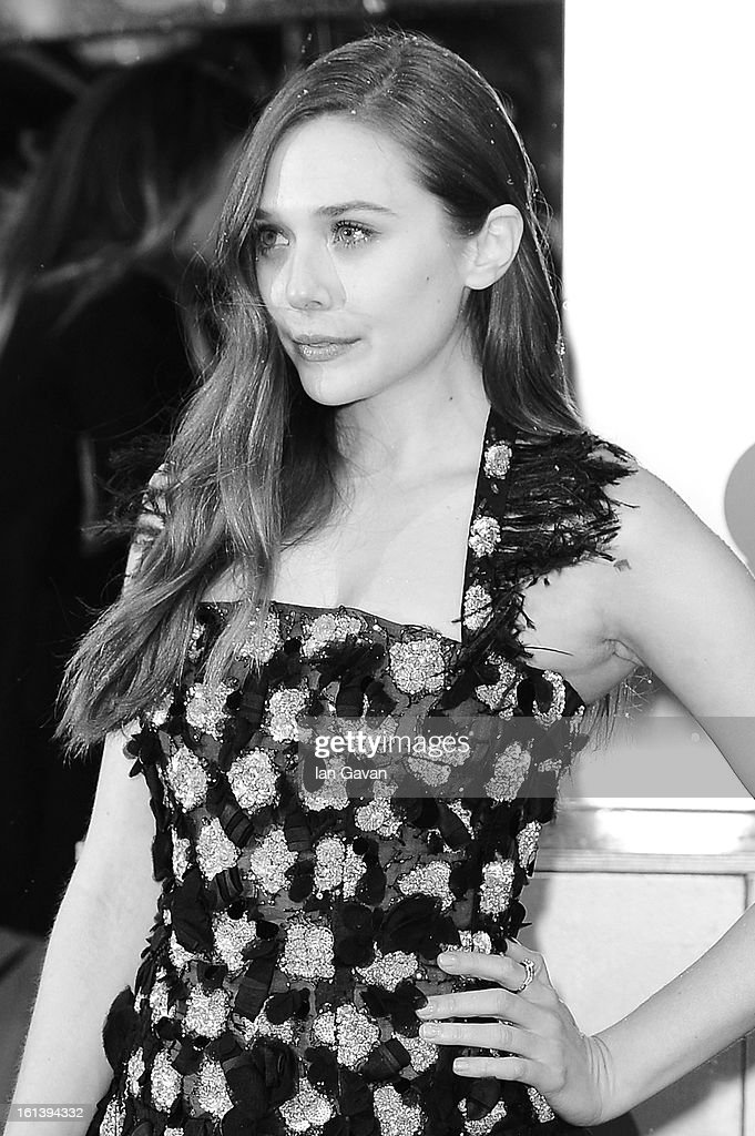 Elizabeth Olsen attends the EE British Academy Film Awards at The Royal Opera House on February 10, 2013 in London, England.