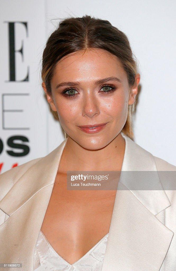 Elizabeth Olsen attends The Elle Style Awards 2016 on February 23, 2016 in London, England.