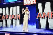 Elizabeth Olsen attends the European Premiere of 'Captain America Civil War' at Vue Westfield on April 26 2016 in London England
