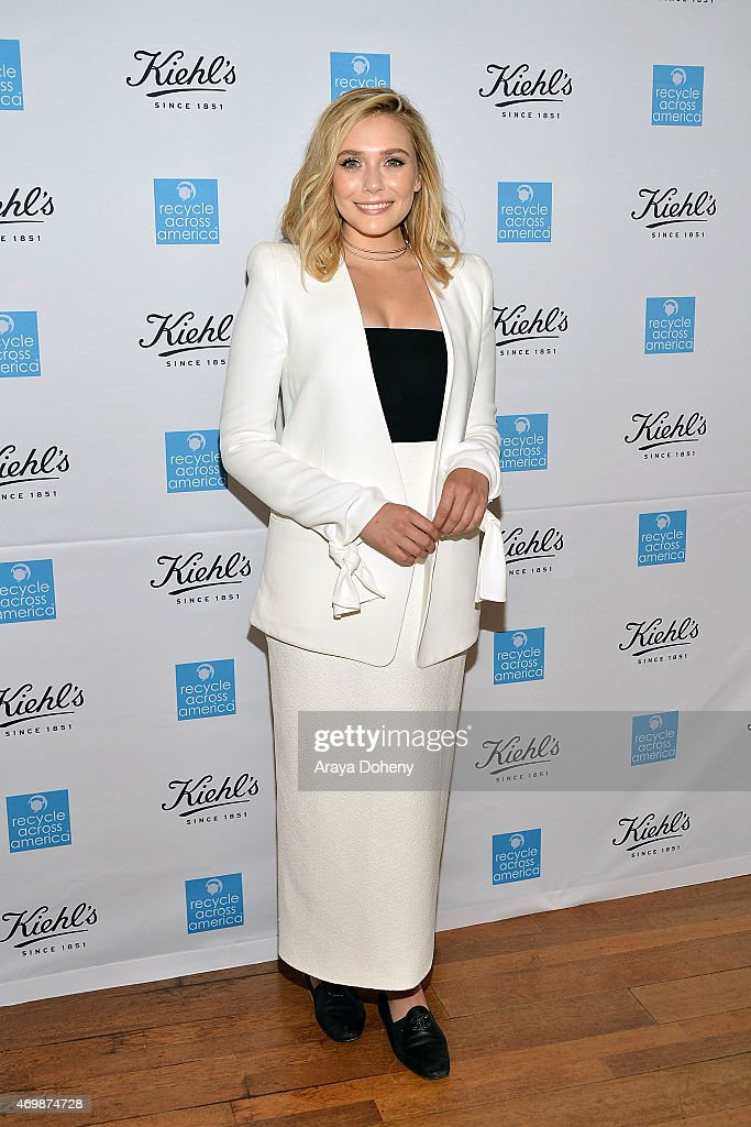 Elizabeth Olsen attends the Kiehl's 2015 Earth Day Project with Benefitting Recycle Across America at Kiehls Since 1851 Santa Monica Store on April 15, 2015 in Santa Monica, California.
