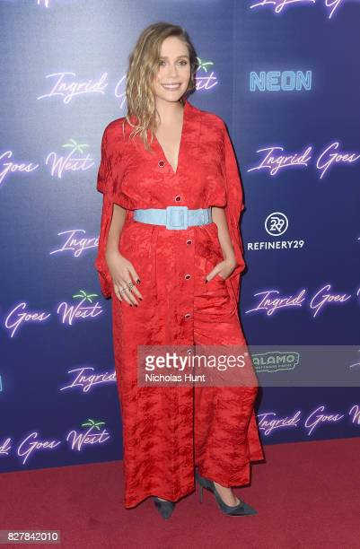 Elizabeth Olsen attends the Neon Hosts The New York Premiere of 'Ingrid Goes West' at Alamo Drafthouse Cinema on August 8 2017 in the Brooklyn...