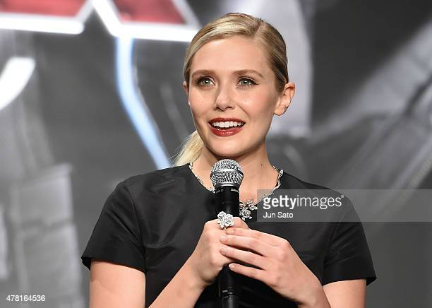 Elizabeth Olsen attends the premiere event for 'Avengers Age of Ultron' at Roppongi Hills on June 23 2015 in Tokyo Japan