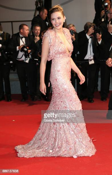 Elizabeth Olsen attends the 'The Square' screening during the 70th annual Cannes Film Festival at Palais des Festivals on May 20 2017 in Cannes France