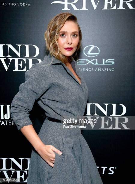 Elizabeth Olsen attends The Weinstein Company With FIJI Grey Goose Lexus And NetJets Host A Screening Of 'Wind River' Arrivals at The Museum of...