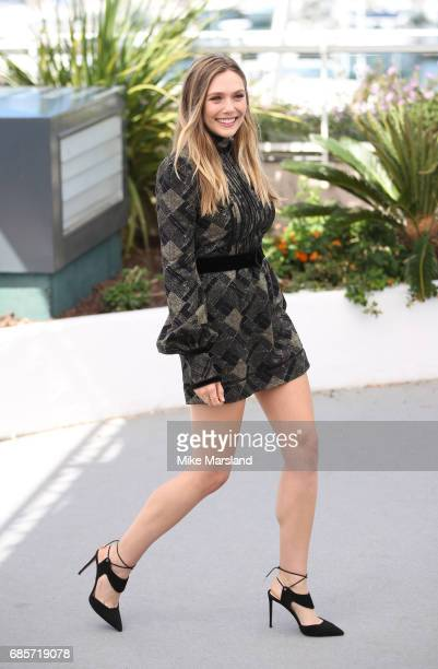 Elizabeth Olsen attends the 'Wind River' photocall during the 70th annual Cannes Film Festival at Palais des Festivals on May 20 2017 in Cannes France