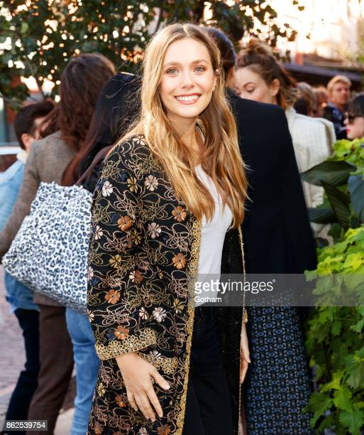 Elizabeth Olsen on October 17 2017 in New York City