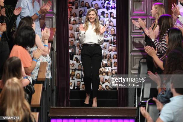 Elizabeth Olsen visits 'The Late Late Show with James Corden' Wednesday August 9 2017 On The CBS Television Network