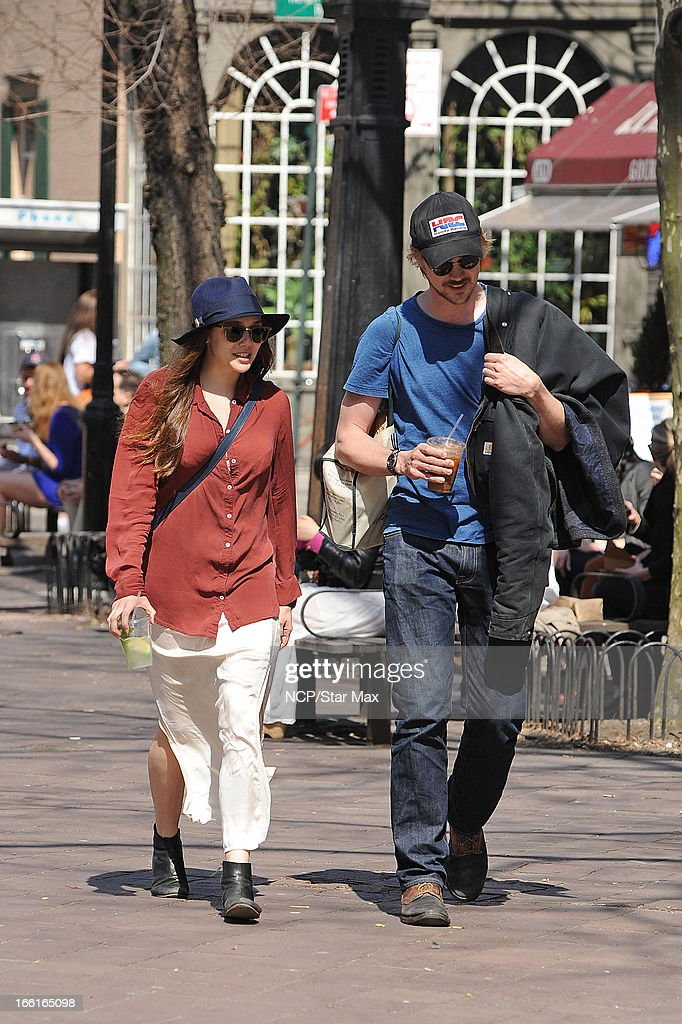 Elizabeth Olsena and Boyd Holbrook as seen on April 8, 2013 in New York City.