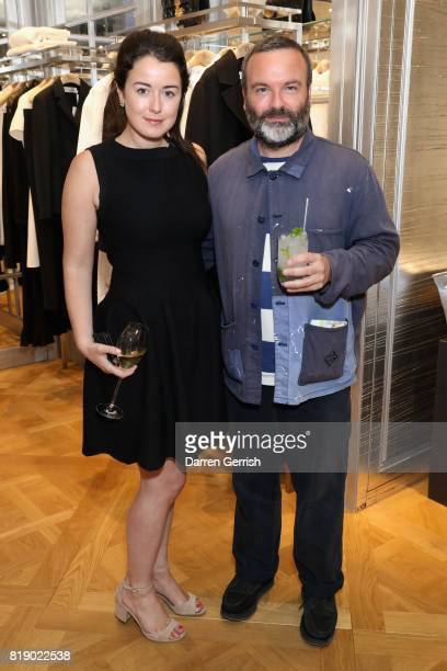 Elizabeth Paton and Richard Gray attend the Dior cocktail party to celebrate the launch of Dior Catwalk by Alexander Fury on July 19 2017 in London...