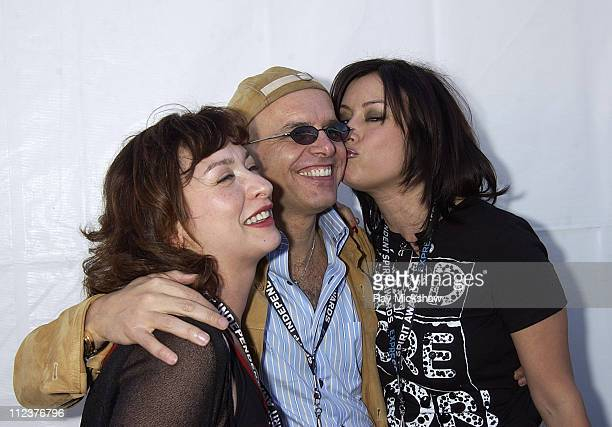 Elizabeth Pena Joe Pantoliano and Jennifer Tilly during The 18th Annual IFP Independent Spirit Awards Backstage at Santa Monica Beach in Santa Monica...