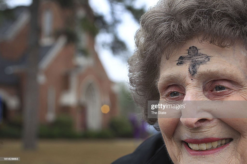Elizabeth 'Penny' Timmerman has attended Ash Wednesday Holy Communion services at Mt. Tabor Lutheran Church in Columbia, South Carolina, since she joined the church back in 1952. Many Christians wore a mark of ashes Wednesday, February 13, 2013, as they began to enter the season of Lent, a 40-day period of reflection and prayer leading up to Easter.