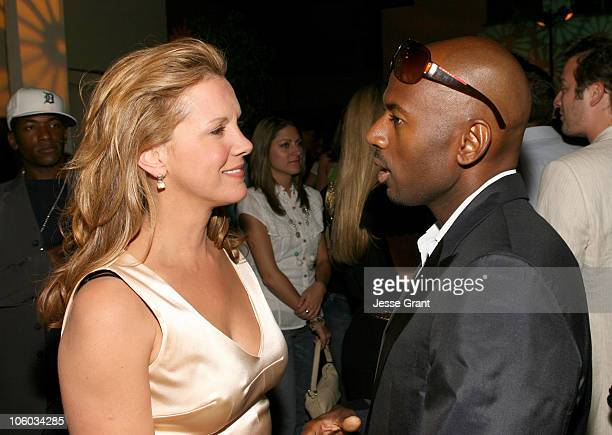 Elizabeth Perkins and Romany Malco during 'Weeds' Season Two Premiere After Party at RenMar Studios in Hollywood California United States