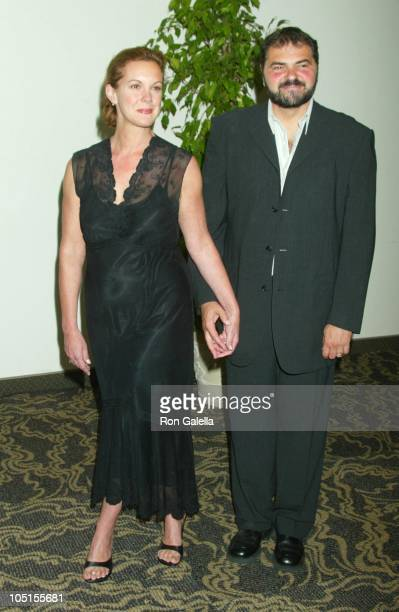 Elizabeth Perkins Julio Macat during 2003 Women In Film Crystal Lucy Awards Sponsored by Marie Claire Arrivals at Century Plaza Hotel in Century City...