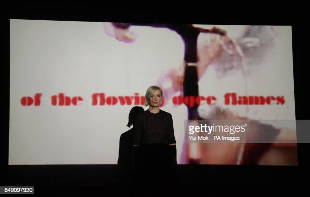 Elizabeth Price pictured with her video installation 'The Woolworths Choir of 1979' is announced as the winner of the Turner Prize at Tate Britain...