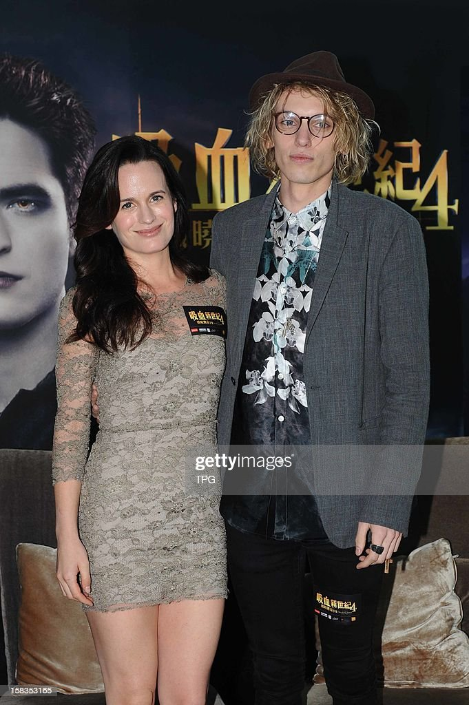 Elizabeth Reaser and Jamie Campbell Bower attended press conference of The Twilight Saga: Breaking Dawn - Part 2 on Wednesday December 12, 2012 in Hong Kong, China.