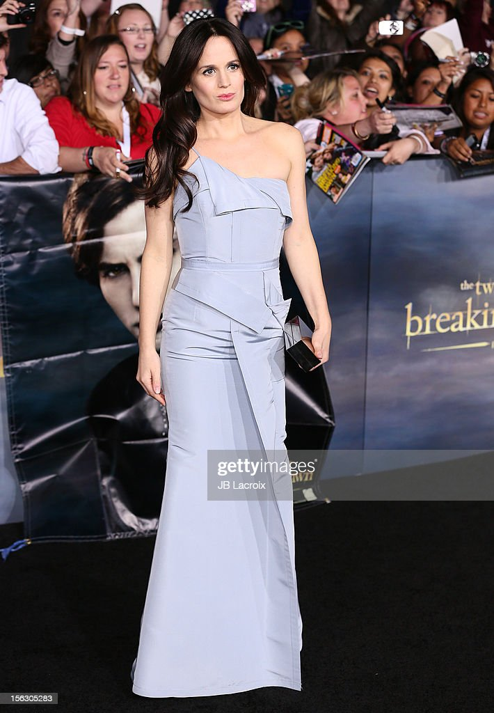 Elizabeth Reaser arrives at the 'The Twilight Saga: Breaking Dawn - Part 2' Los Angeles Premiere at Nokia Theatre L.A. Live on November 12, 2012 in Los Angeles, California.