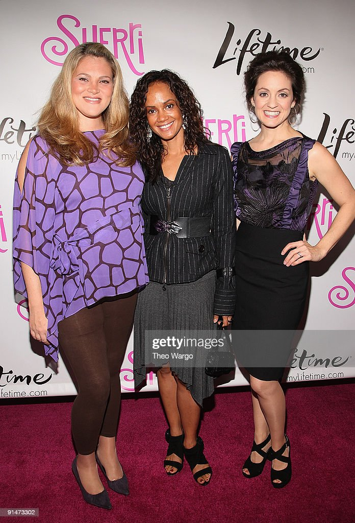 Elizabeth Regen, Tammy Townsend and Kali Rocha attend the launch party for new sitcom 'Sherri' at the Empire Hotel on October 5, 2009 in New York City.
